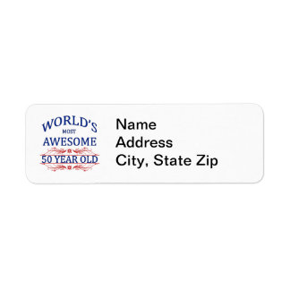 World s Most Awesome 50 Year Old Custom Return Address Labels