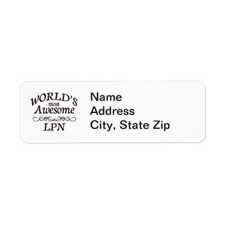 World s Most Awesome LPN Custom Return Address Labels