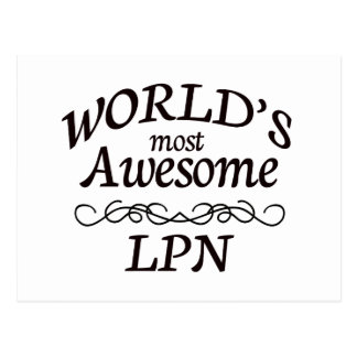 World s Most Awesome LPN Post Card