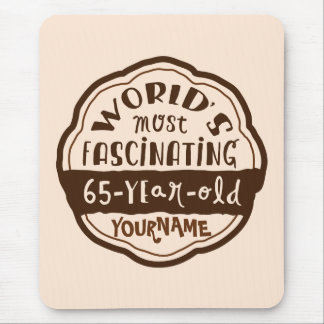 World s Most Fascinating 65-Year-Old Brown Peach Mouse Pads