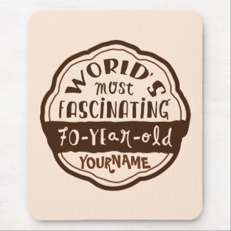 World s Most Fascinating 70-Year-Old Brown Peach Mouse Pads