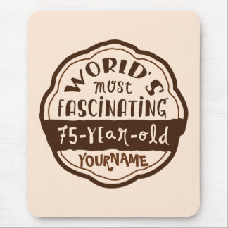 World s Most Fascinating 75-Year-Old Brown Peach Mousepads