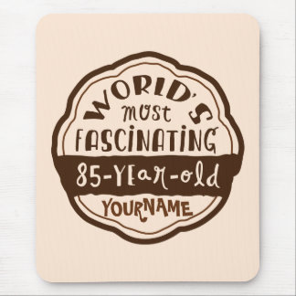World s Most Fascinating 85-Year-Old Brown Peach Mouse Pads