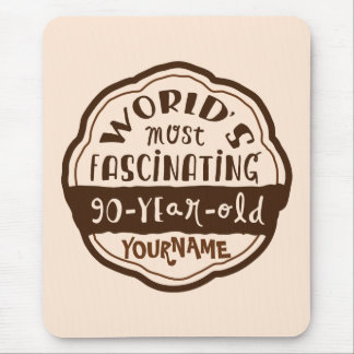 World s Most Fascinating 90-Year-Old Brown Peach Mouse Pad