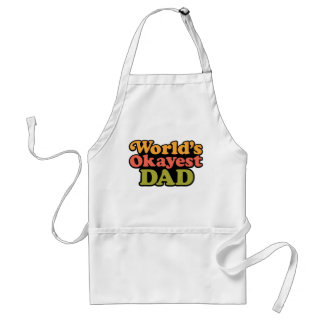 World s Okayest Dad Apron
