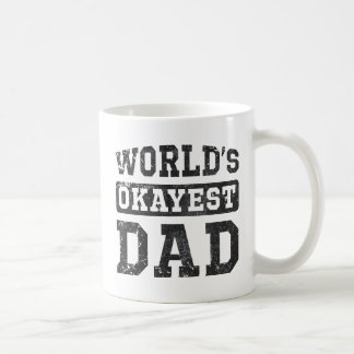 World s Okayest Dad Vintage Coffee Mugs