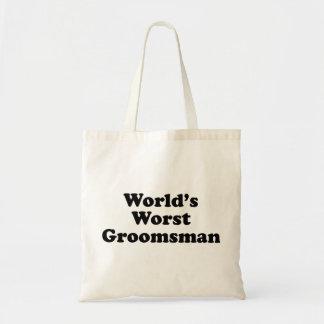 World s Worst Groomsman Tote Bag