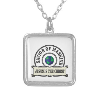 world savior silver plated necklace