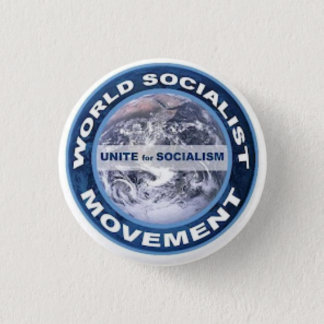 World Socialist Movement badge 1 Inch Round Button