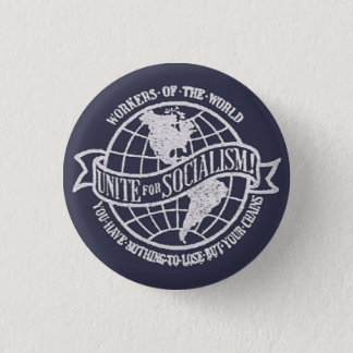 World Socialist Party of the United States badge 1 Inch Round Button