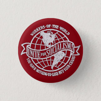 World Socialist Party of the United States red 1 Inch Round Button