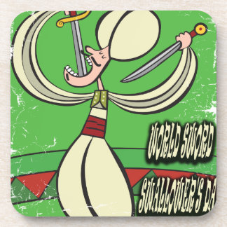 World Sword Swallower's Day - Appreciation Day Coaster