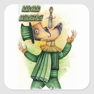 World Sword Swallower's Day - Appreciation Day Square Sticker