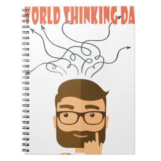 World Thinking Day - Appreciation Day Spiral Notebook