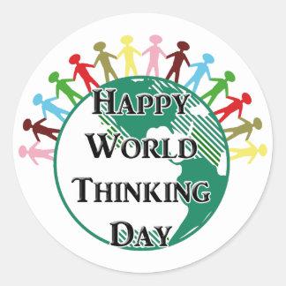 World Thinking Day Classic Round Sticker