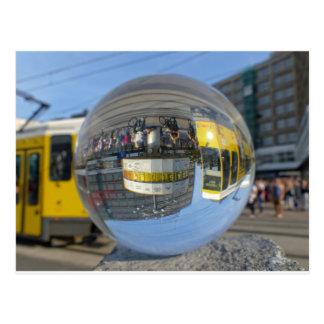 World Time Clock, Alexanderplatz, Alex, Berlin Postcard