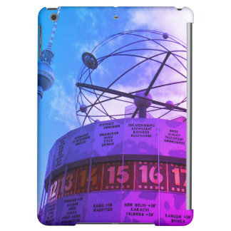 World time Clock with Berlin TV Tower, 001.F.01 iPad Air Covers