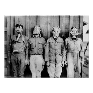 World Tour of Gas Masks Poster