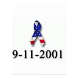 WORLD TRADE CENTER 9-11 DESIGN POSTCARD