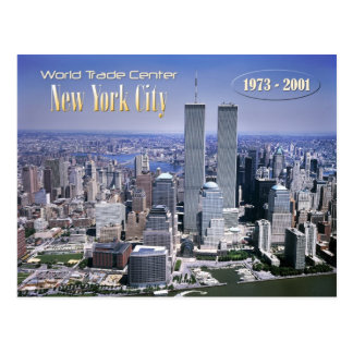 World Trade Center and NYC skyline Postcard