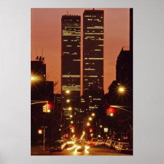 World Trade Center At Dusk Poster
