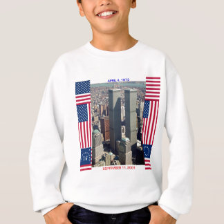 World Trade Center Complex and U.S. Flags Sweatshirt
