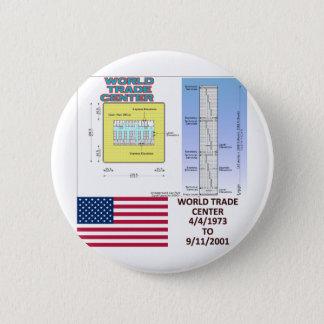World Trade Center Floor Plans 2 Inch Round Button