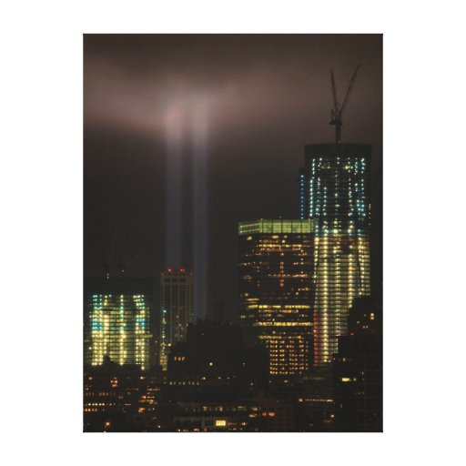 World Trade Center Tribute In Light 2011 #01 Canvas Prints