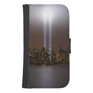 World trade center tribute in light in New York. Galaxy S4 Wallet Case