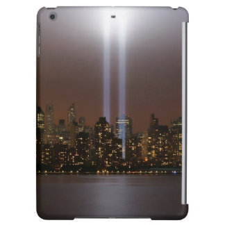 World trade center tribute in light in New York. iPad Air Cover