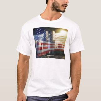 World Trade Center with Flag T-Shirt