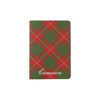 World Traveler Clan Cameron Tartan Plaid Passport Holder