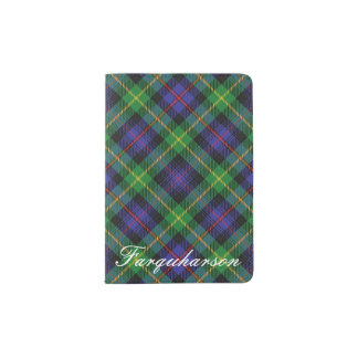 World Traveler Clan Farquharson Tartan Plaid Passport Holder
