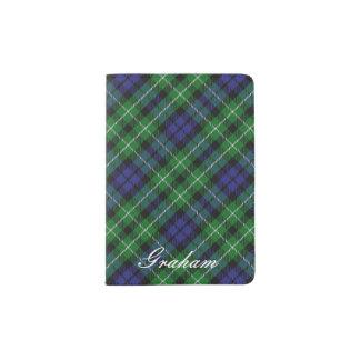 World Traveler Clan Graham Tartan Plaid Passport Holder