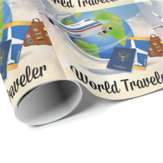 World Traveler, Design 2 Wrapping Paper