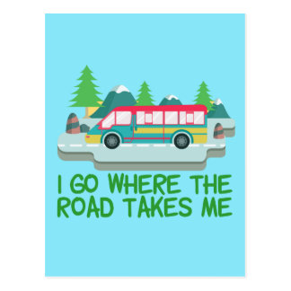 World Traveler RV Nomad Postcard