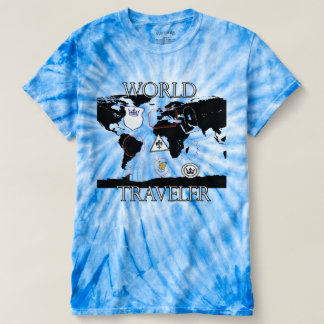 World Traveler Tie Dye shirt. T-shirt