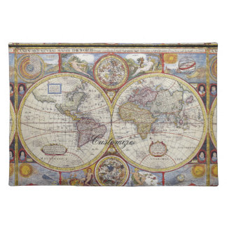 World Traveler Vintage Map Thunder_Cove Placemat