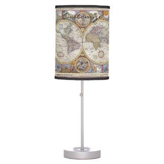 World Traveler Vintage Map Thunder_Cove Table Lamp