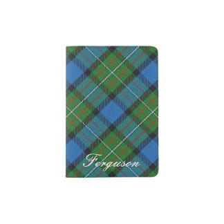 World Traveller Clan Fergusson Tartan Plaid Passport Holder