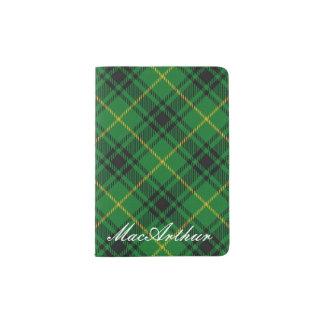 World Traveller Clan MacArthur Tartan Plaid Passport Holder