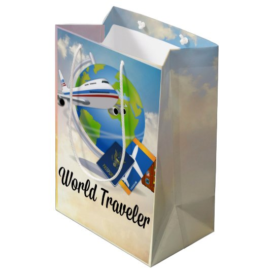 World Traveller - Design #2 Medium Gift Bag