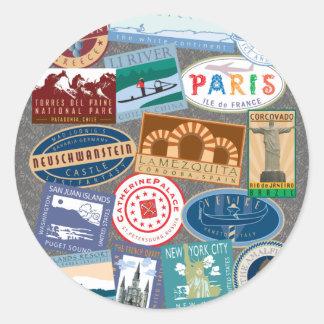 World Traverler-Sticker Classic Round Sticker