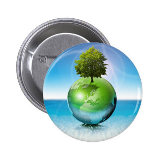 World tree -  ecology concept 2 inch round button