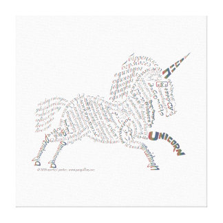 World Unicorn Canvas Print