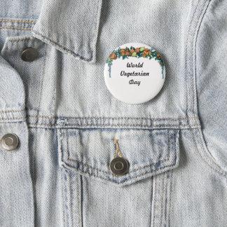 World vegetarian day-button 2 inch round button