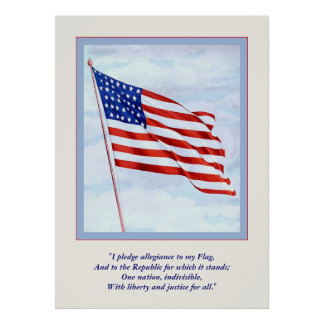 World War 1 Pledge Of  Allegiance ~ Vintage Poster