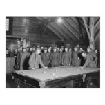 World War 1 YMCA Pool Hall, 1910s Postcard