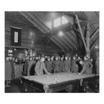 World War 1 YMCA Pool Hall, 1910s Posters