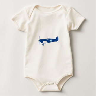 World War 2 Fighter Plane Spitfire Retro Baby Bodysuit